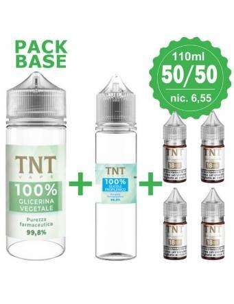 TNTVape – pack BASE Neutra 50/50, 110ml, nic.6,55 (1 VG35 + 1 PG35 + 4 Basi10/18nic)