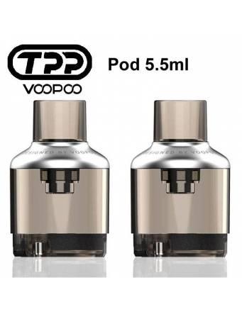 VooPoo TPP pod di ricambio 5,5ml DTL (2 pz-no coil) GUNMETAL